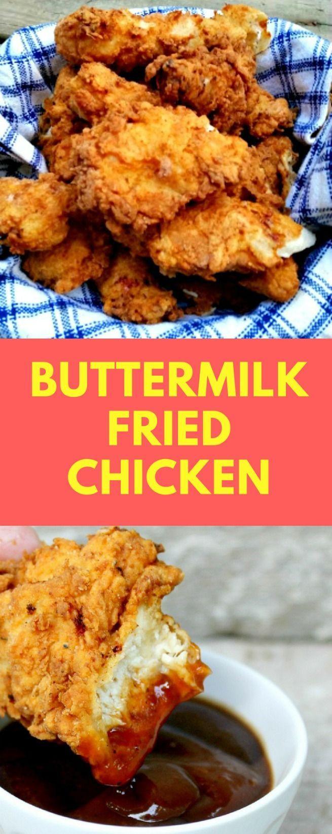 Buttermilk Fried Chicken Recipe  Best 25 Fried chicken ideas on Pinterest