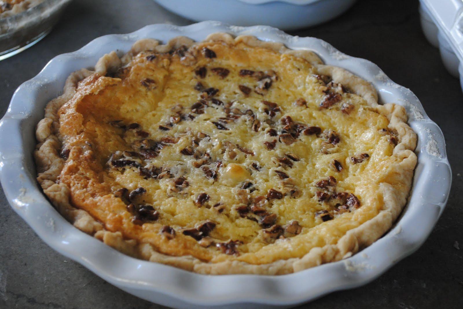 Buttermilk Pecan Pie  Lines from Linderhof Courtland Buttermilk Pecan Pie