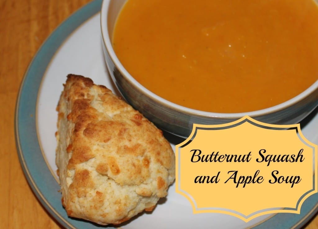 Butternut Squash And Apple Soup  Butternut Squash and Apple Soup Cheddar Cheese Scones