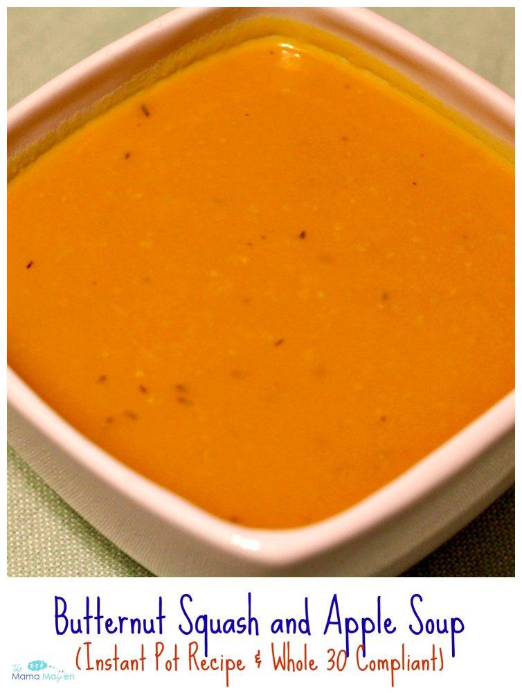 Butternut Squash And Apple Soup  Butternut Squash and Apple Soup Instant Pot Recipe