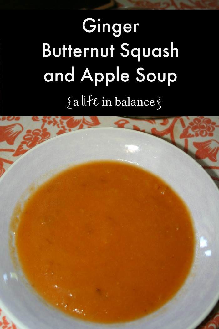 Butternut Squash And Apple Soup  Ginger Butternut Squash and Apple Soup