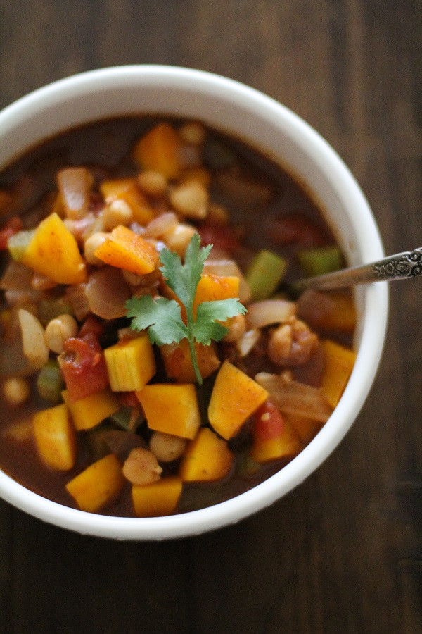 Butternut Squash Chili  Butternut Squash and Chickpea Chili The Roasted Root