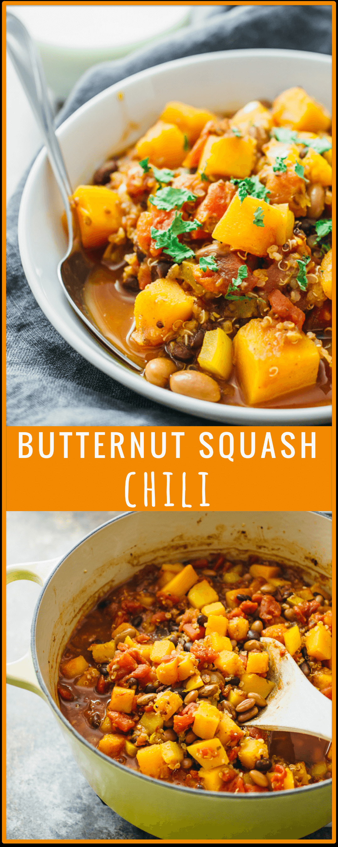 Butternut Squash Chili  Butternut squash chili savory tooth