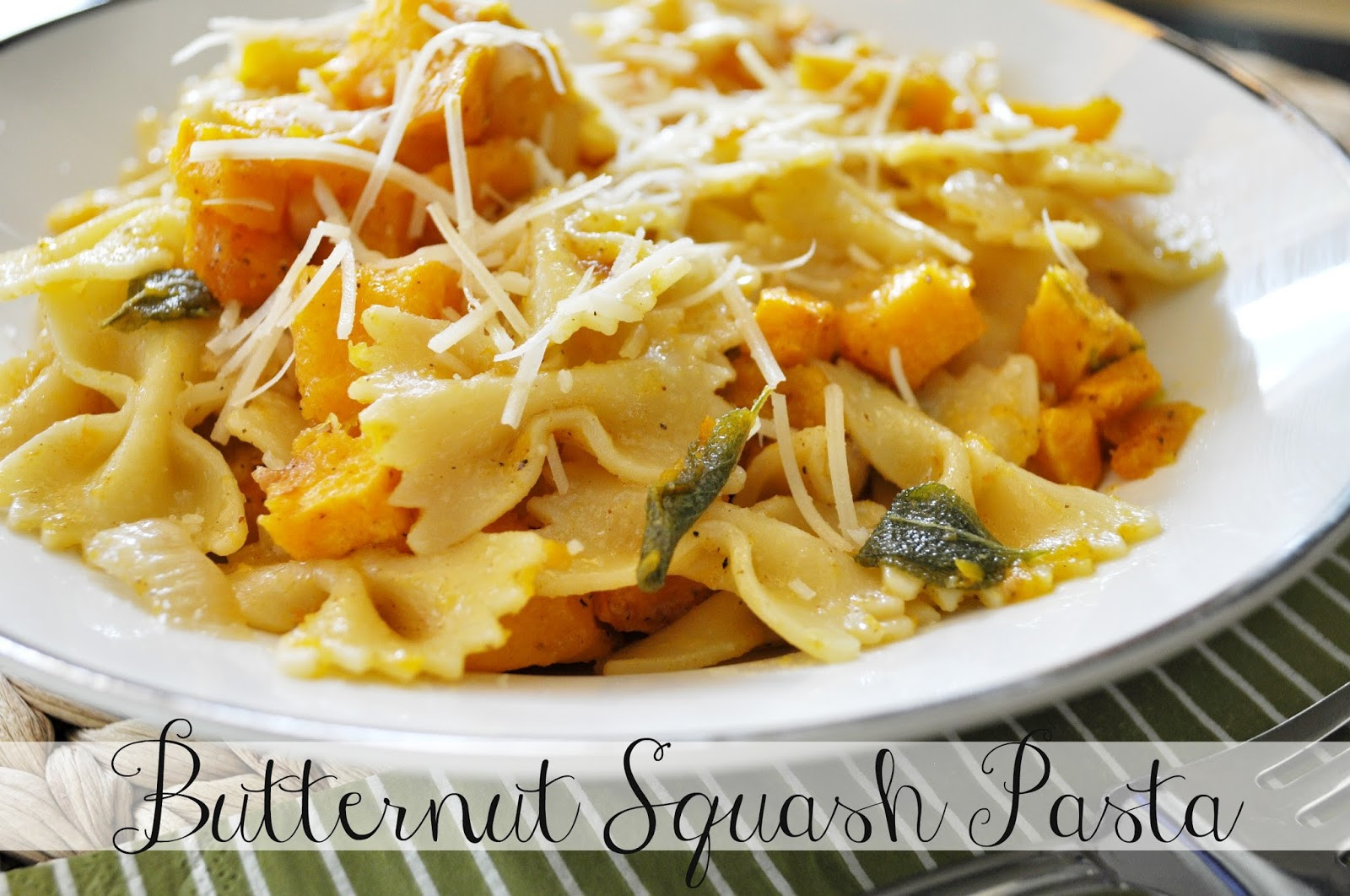 Butternut Squash Pasta  Suburbs Mama Butternut Squash Pasta with Sage and Browned