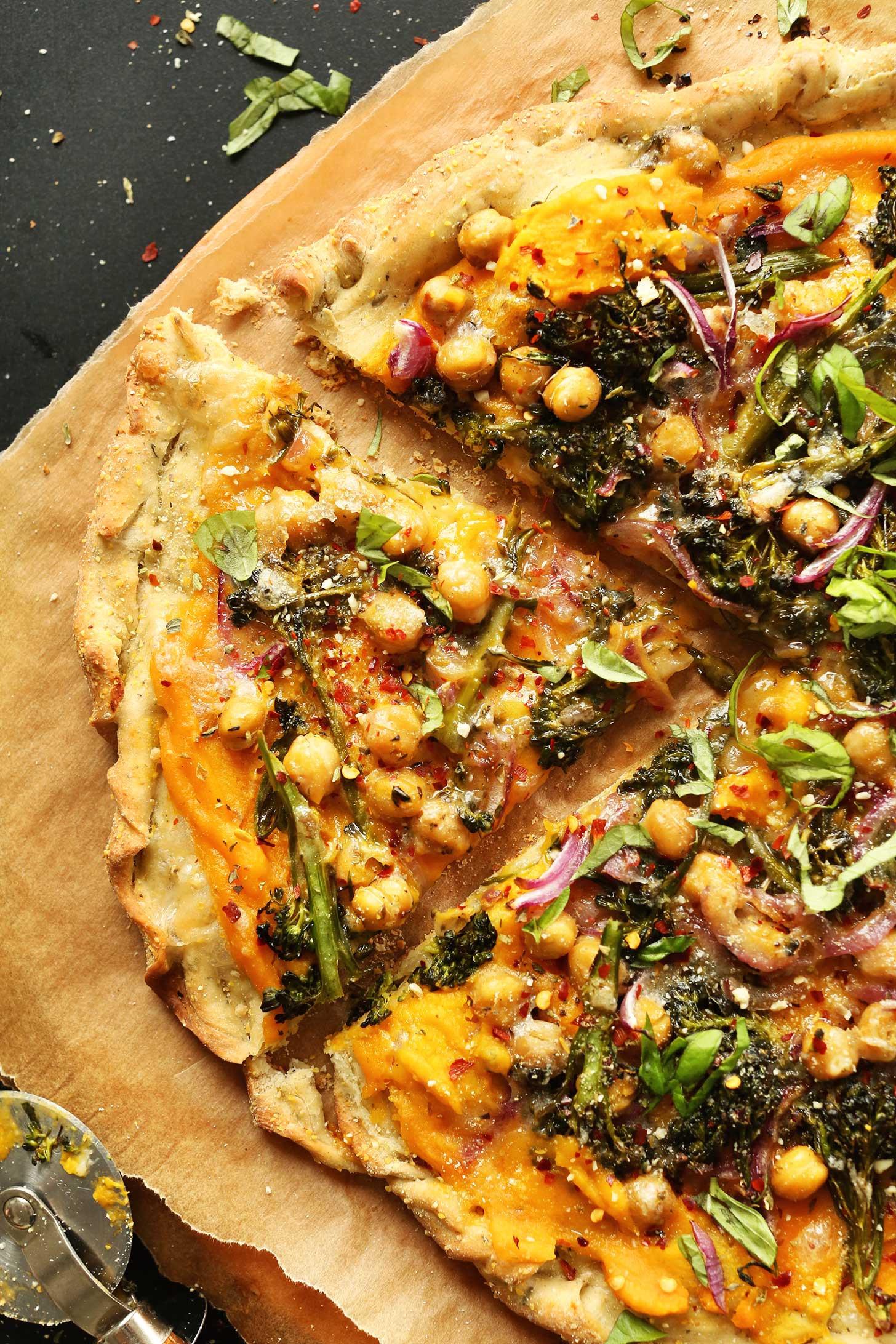 Butternut Squash Recipes Vegan  Butternut Squash Veggie Pizza