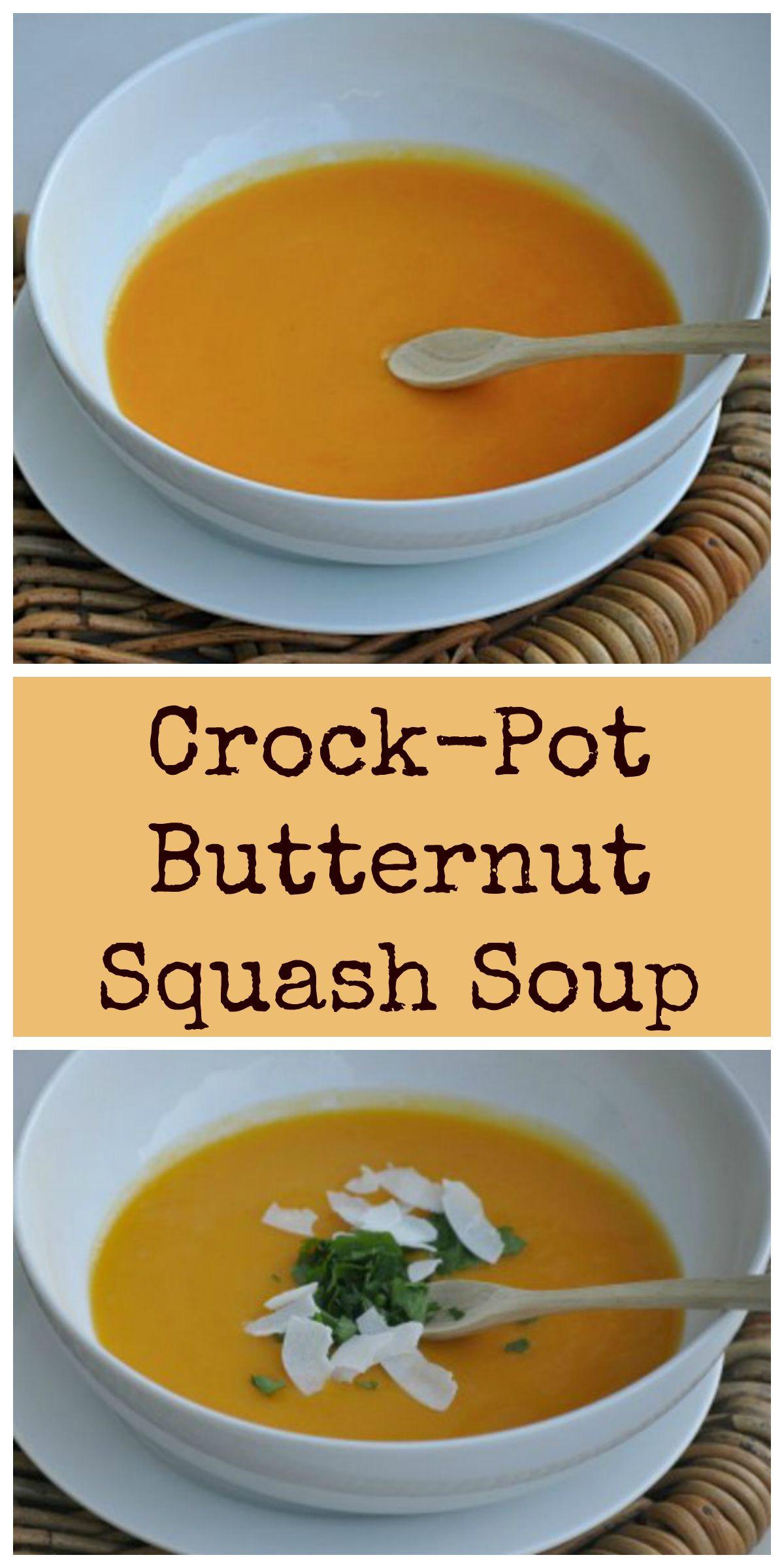 Butternut Squash Soup Crockpot  crock pot Archives Dining with Alice