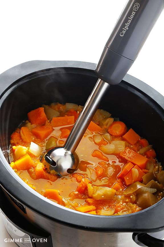 Butternut Squash Soup Crockpot  Easy Creamy Crock Pot Butternut Squash Soup
