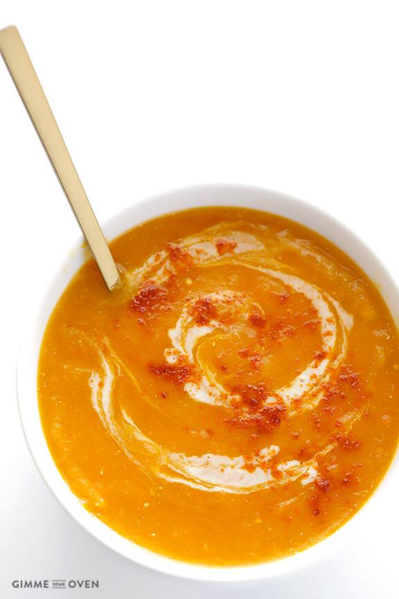 Butternut Squash Soup Crockpot  Slow Cooker Butternut Squash Soup
