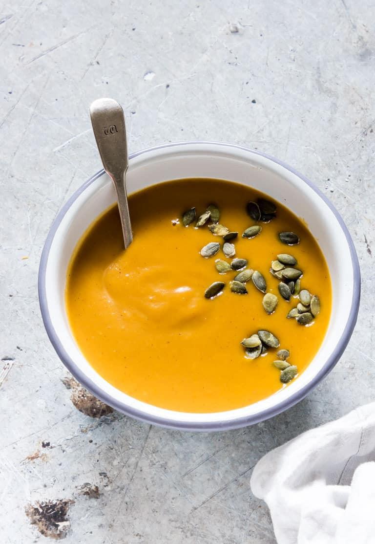 Butternut Squash Soup Instant Pot  Instant Pot Butternut Squash Soup Tutorial Vegan