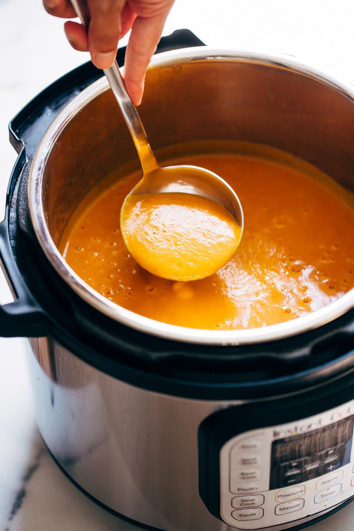 Butternut Squash Soup Instant Pot  Instant Pot Cajun Butternut Squash Soup Recipe