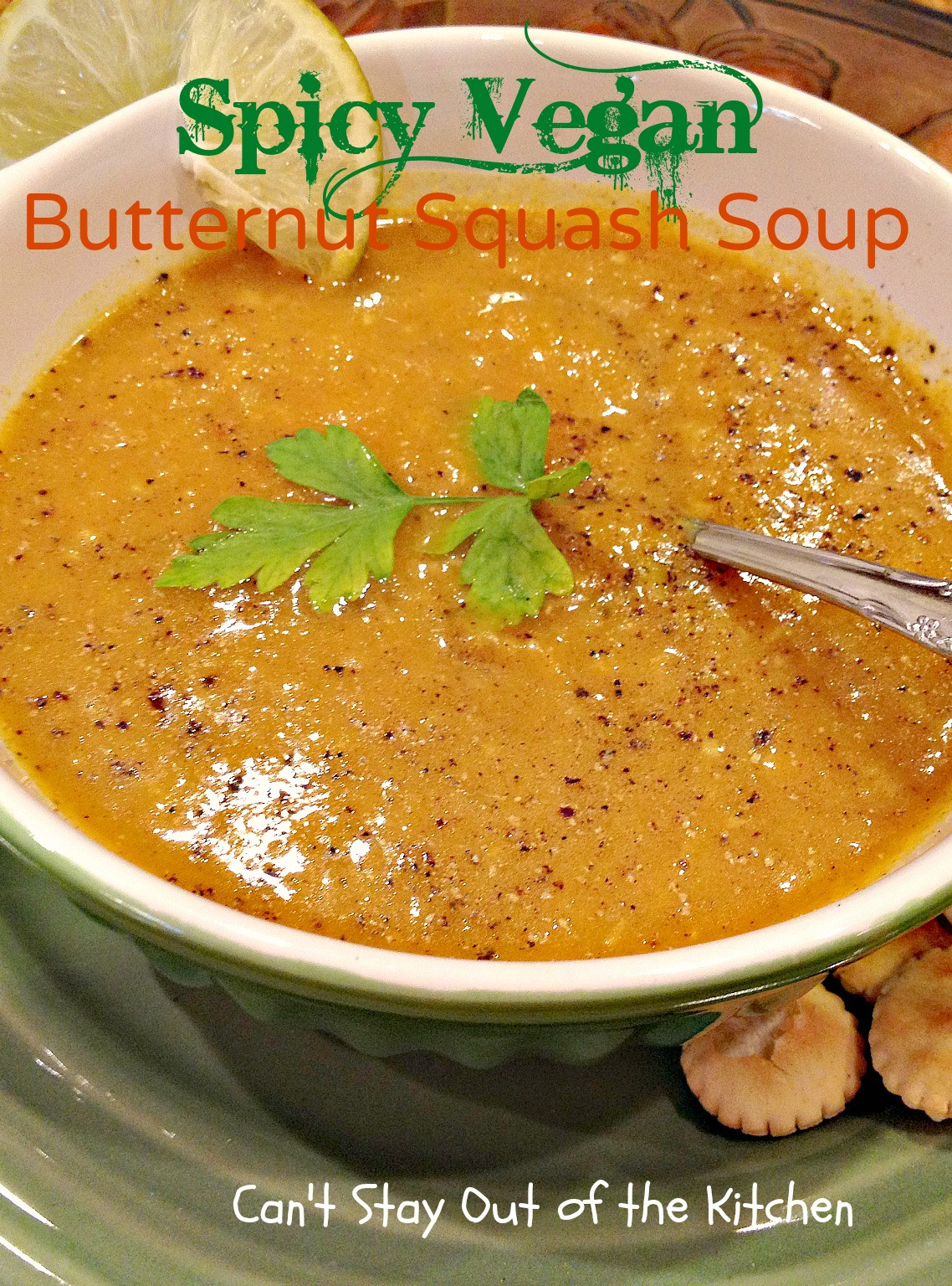 Butternut Squash Soup Vegan  Vegan Pumpkin Soup with Leeks Pears and Apples Can t
