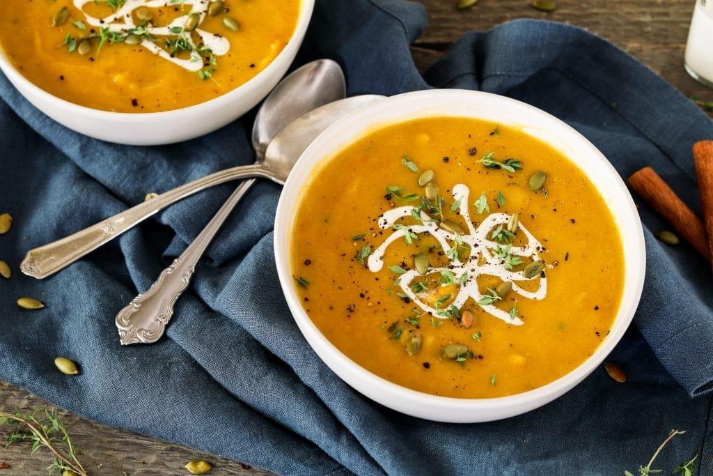 Butternut Squash Soup Vegan  Vegan Roasted Butternut Squash Soup Vegan Huggs