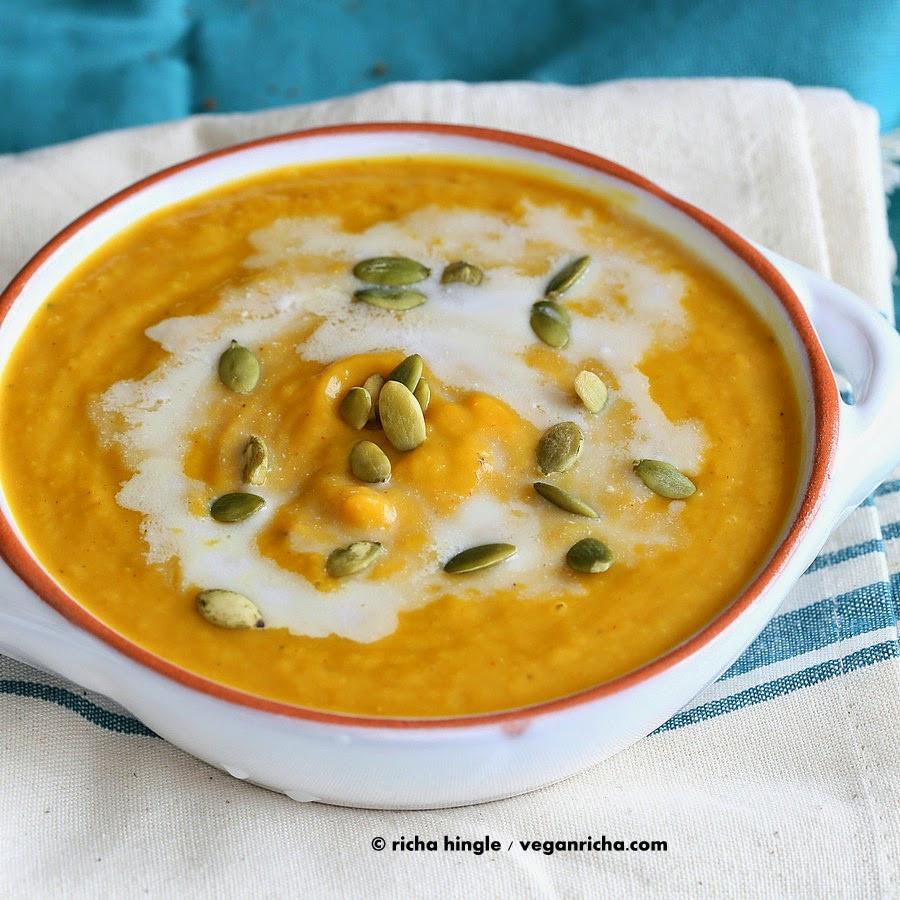 Butternut Squash Soup Vegan  Vegan Curried Butternut Squash Soup Glutenfree Recipe