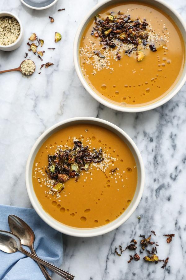 Butternut Squash Soup Vegan  Creamy Vegan Butternut Squash Soup Recipe with Ginger