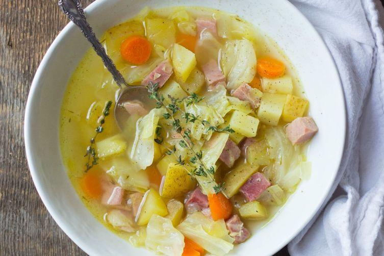 Cabbage And Potato Soup  old fashioned potato soup