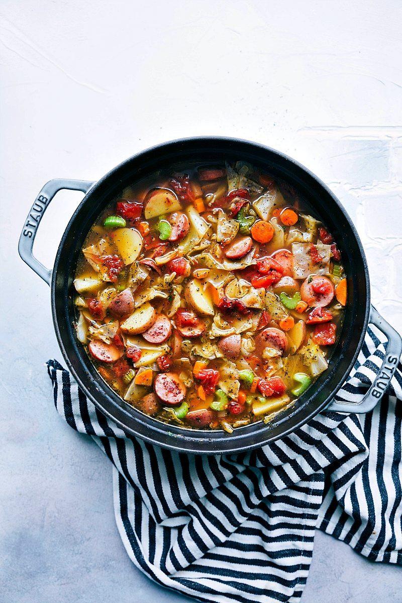 Cabbage And Potato Soup  Sausage Potato and Cabbage Soup