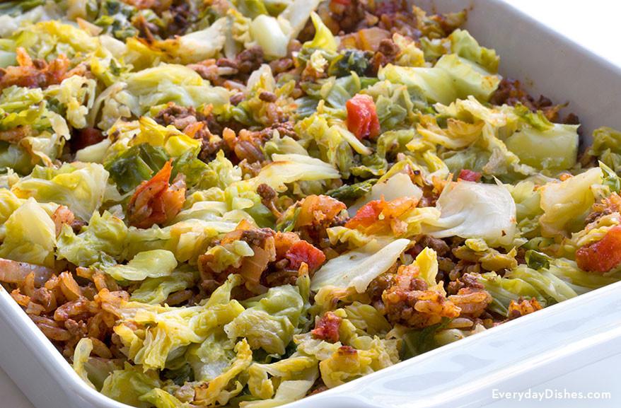 Cabbage Casserole Recipes  Stuffed Cabbage Casserole Recipe Made Low Carb