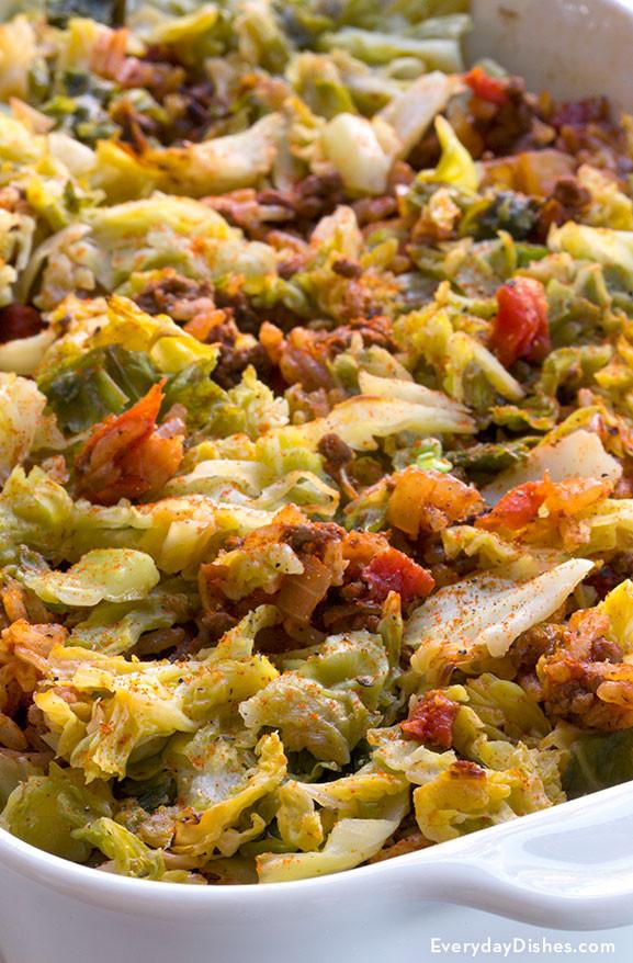 Cabbage Casserole Recipes  cabbage and rice casserole recipes