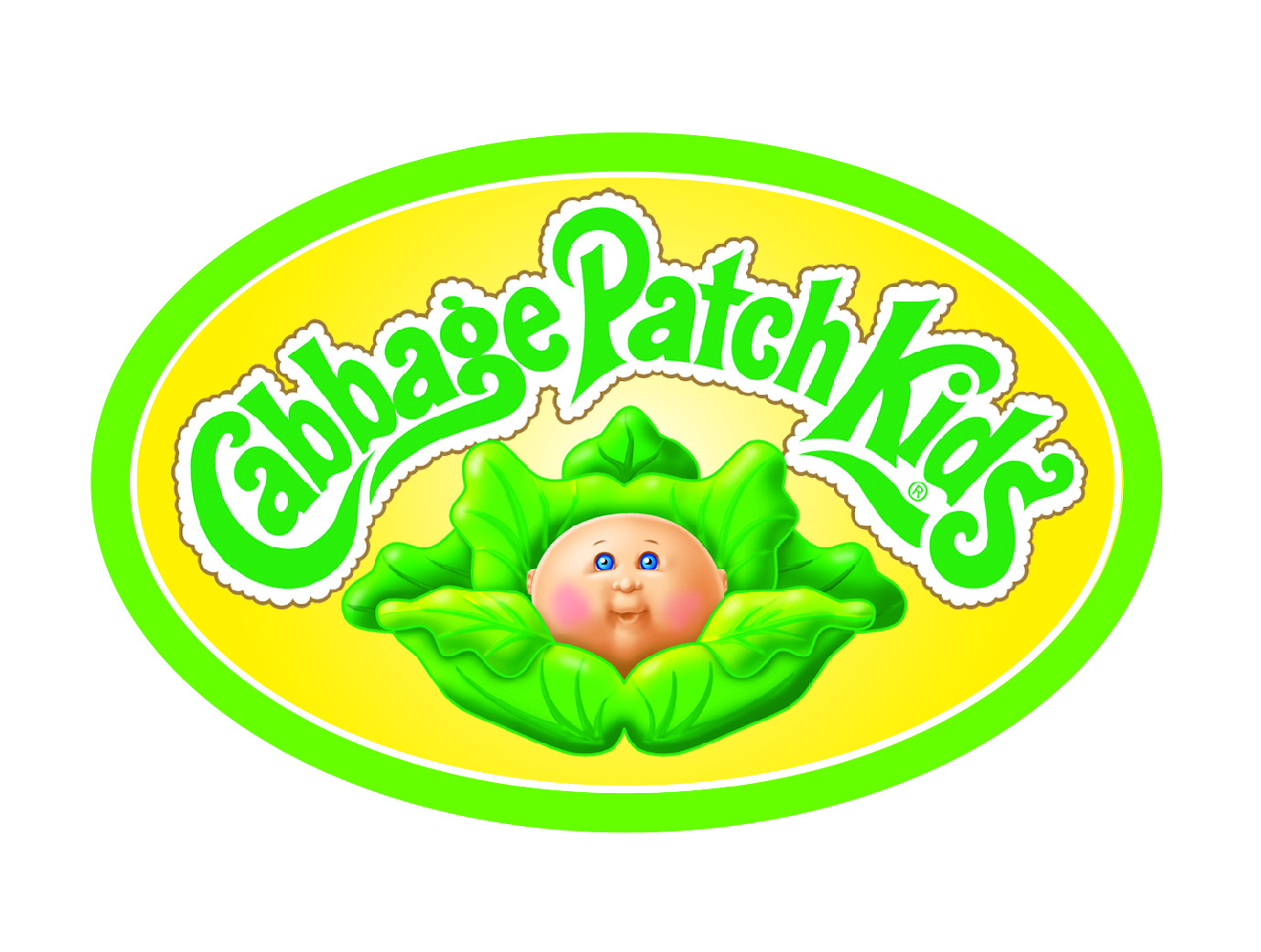 Cabbage Patch Kids Logo  Cabbage Patch Kids Naptime Babies e of a Kind Baby Doll