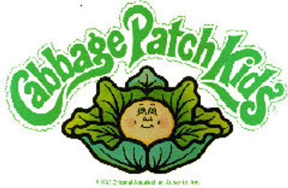 Cabbage Patch Kids Logo  14 Cabbage Patch Kids DOLLS Iron Transfers 3 Sizes of