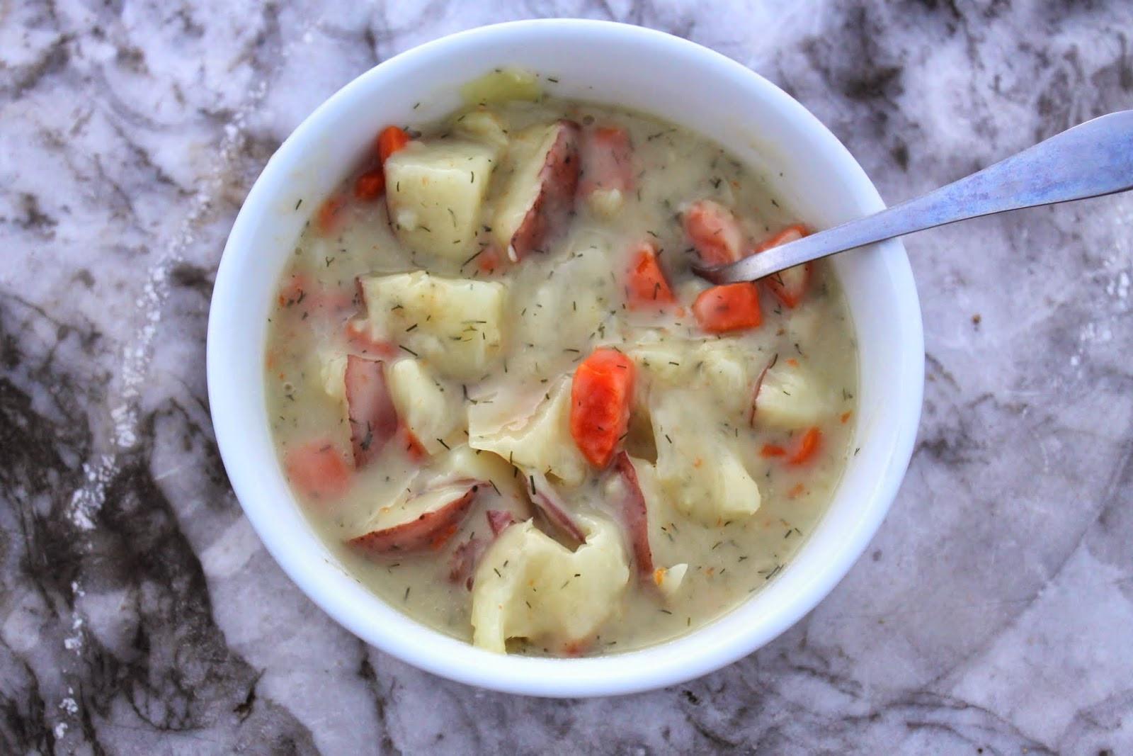 Cabbage Potato Soup  born imaginative Creamy Potato Cabbage Soup