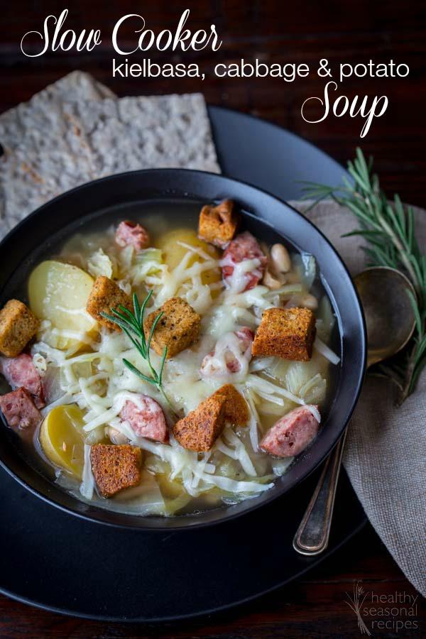 Cabbage Potato Soup  slow cooker kielbasa cabbage and potato soup Healthy