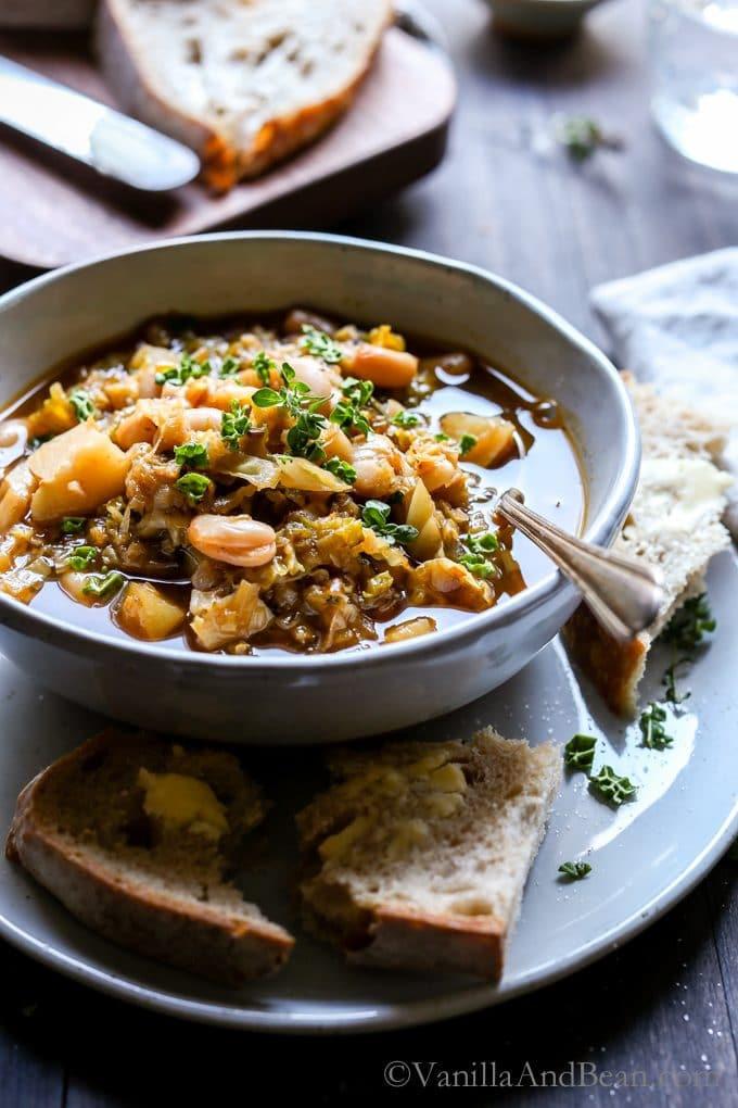 Cabbage Potato Soup  White Bean Cabbage Potato Soup