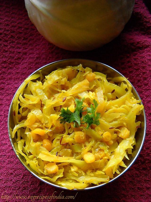 Cabbage Recipes Indian  cabbage upkari recipe cabbage chana dal recipe