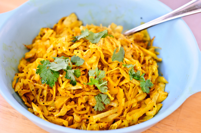 Cabbage Recipes Indian  Five Minute Indian style Cabbage A Tasty and Easy Side