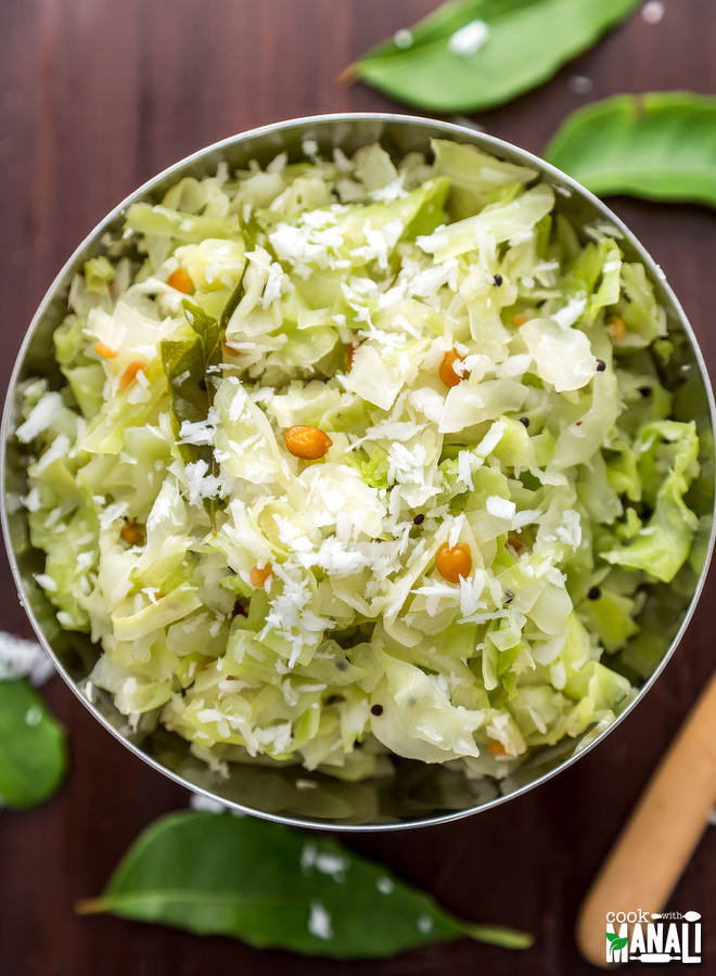 Cabbage Recipes Indian  Cabbage Poriyal Cabbage With Coconut Cook With Manali