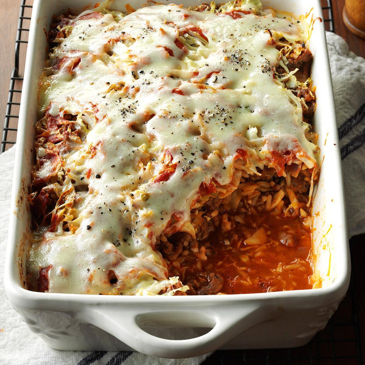 Cabbage Roll Casserole  Cabbage Roll Casserole Recipe
