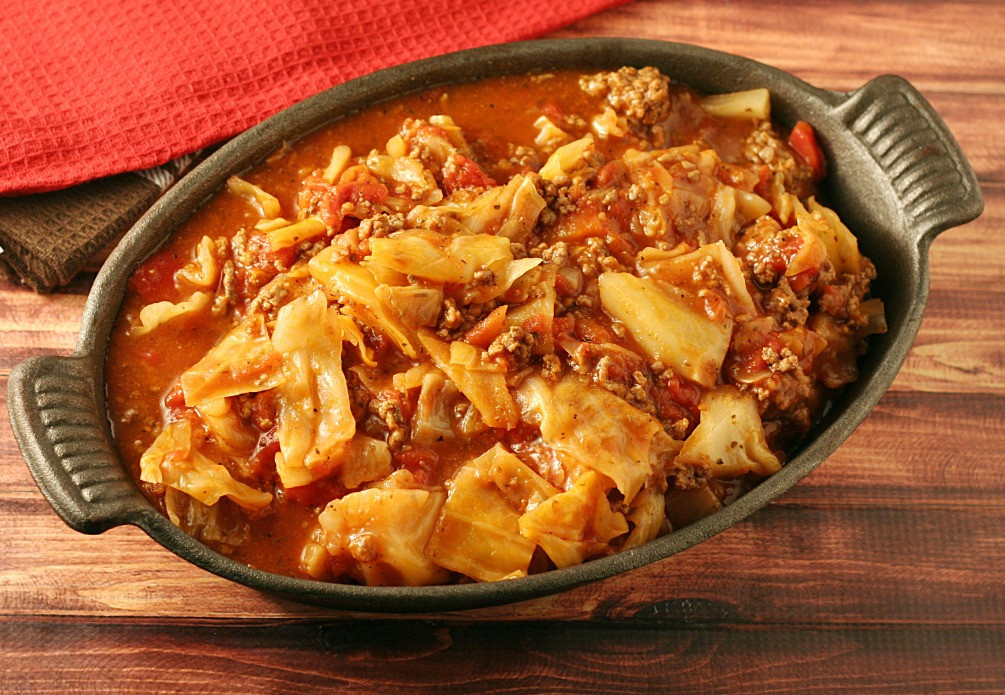 Cabbage Roll Casserole  Unstuffed Cabbage Roll Casserole SundaySupper Yours and
