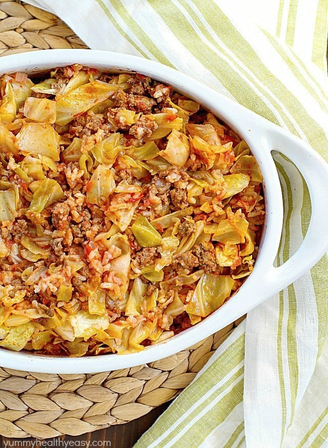 Cabbage Roll Casserole  Beef Cabbage Roll Casserole Yummy Healthy Easy