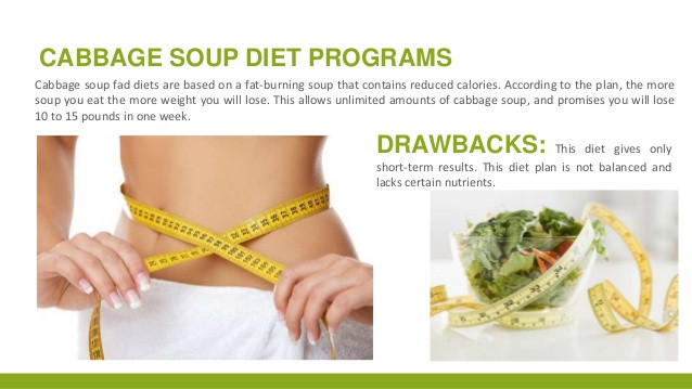 Cabbage Soup Diet Results  Fat and Fad Diets