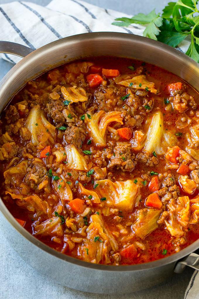Cabbage Soup Recipe  Cabbage Roll Soup Dinner at the Zoo