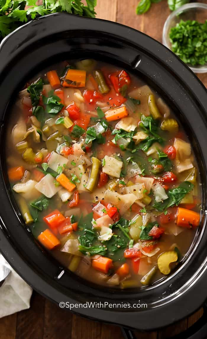 Cabbage Soup Recipe  Slow Cooker Cabbage Soup Spend With Pennies