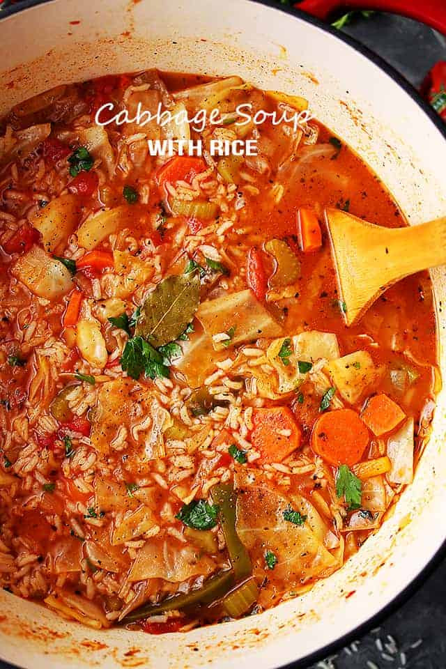 Cabbage Soup Recipe  Cabbage Soup with Rice Diethood