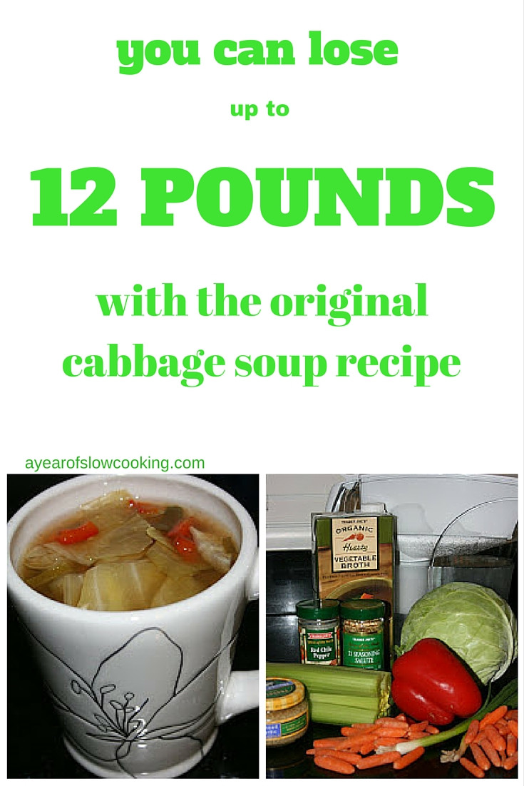 Cabbage Soup Recipe Diet  Cabbage Soup Diet CrockPot Recipe A Year of Slow Cooking