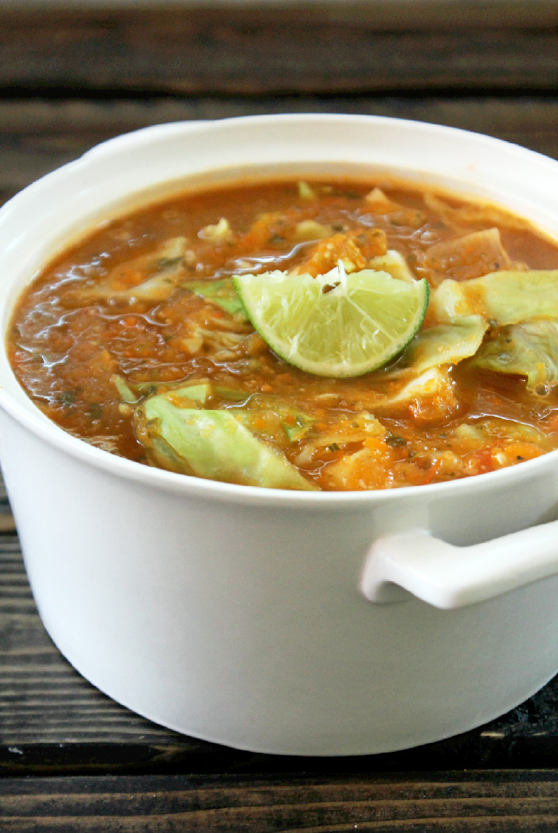 Cabbage Soup Recipe  Not Quite a Vegan Fat Burning Cabbage Tortilla Soup