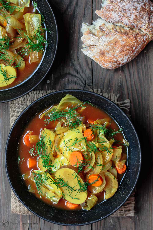 Cabbage Soup Recipe  Slow Cooker Mediterranean Vegan Cabbage Soup