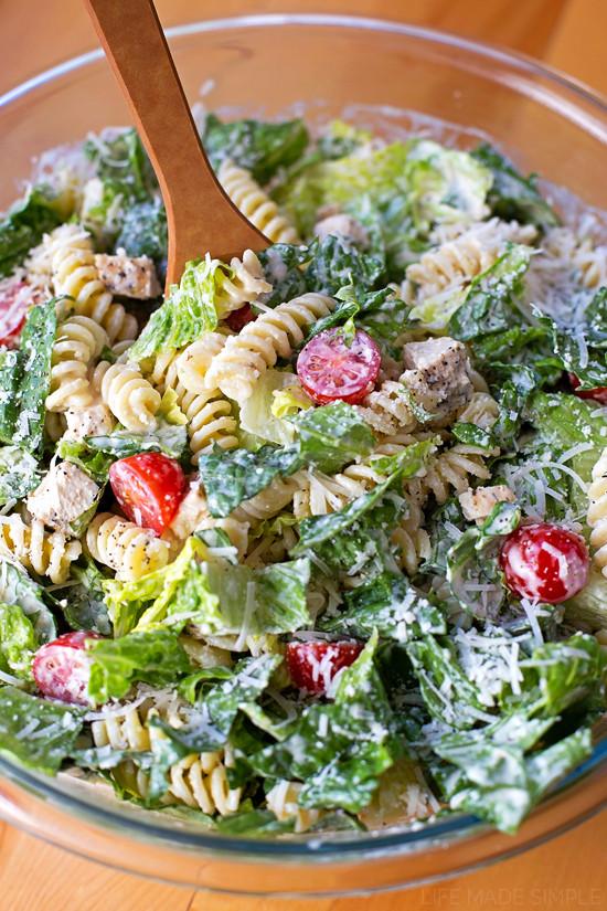 Caesar Pasta Salad  Chicken Caesar Pasta Salad Life Made Simple