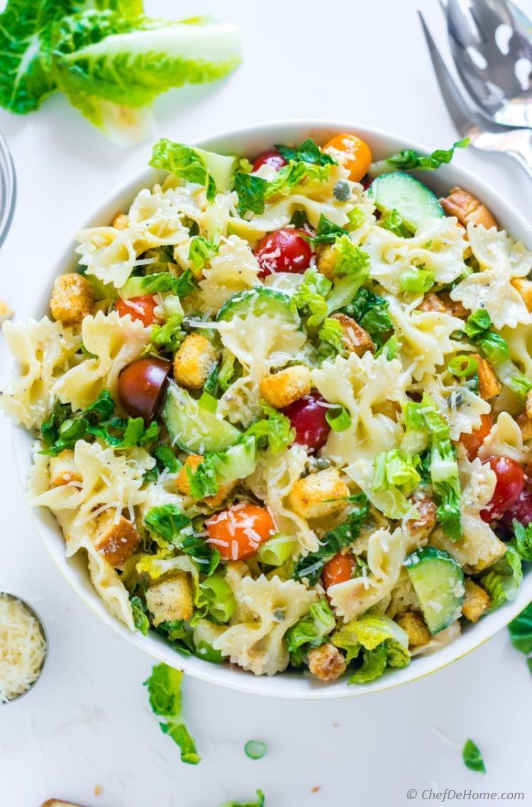 Caesar Pasta Salad  Caesar Pasta Salad Recipe