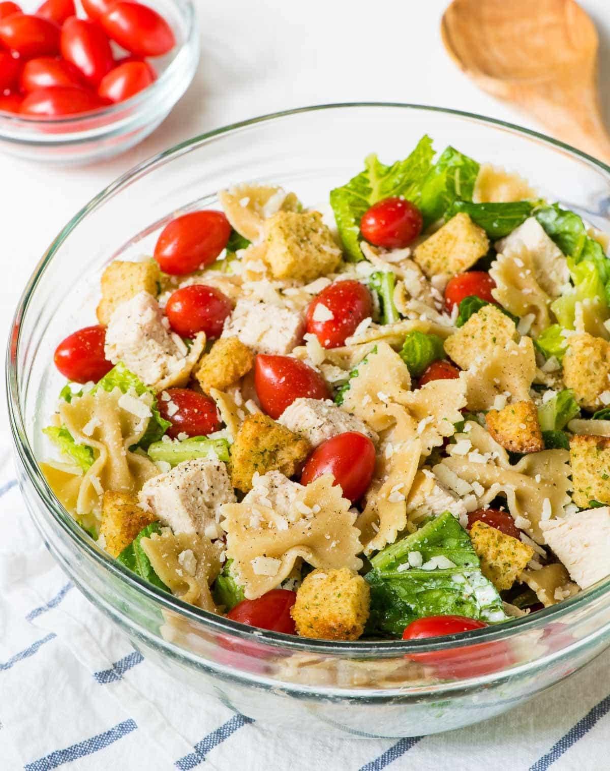 Caesar Pasta Salad  Chicken Caesar Pasta Salad
