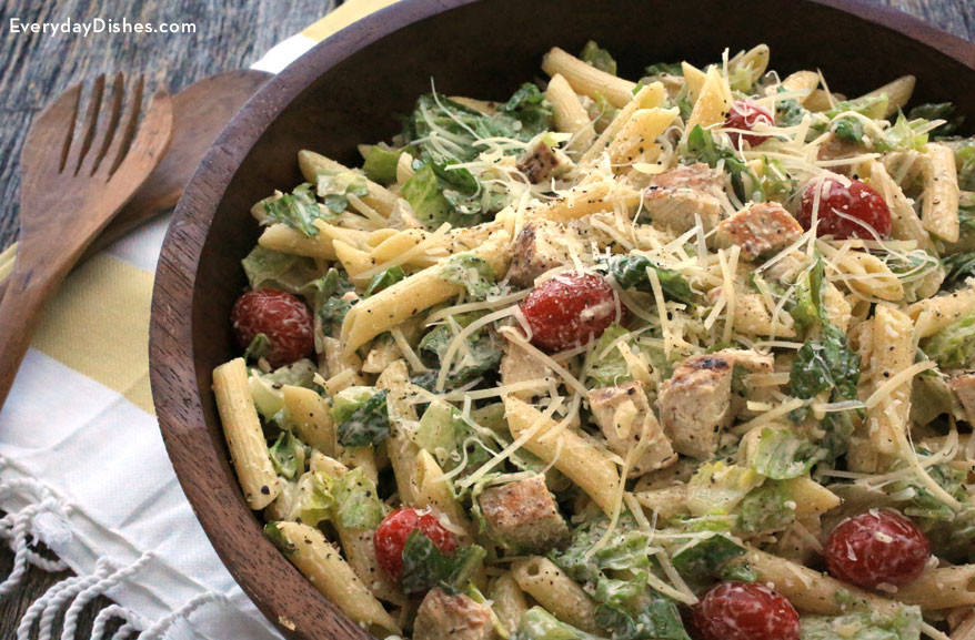 Caesar Pasta Salad  Chicken Caesar Pasta Salad Recipe