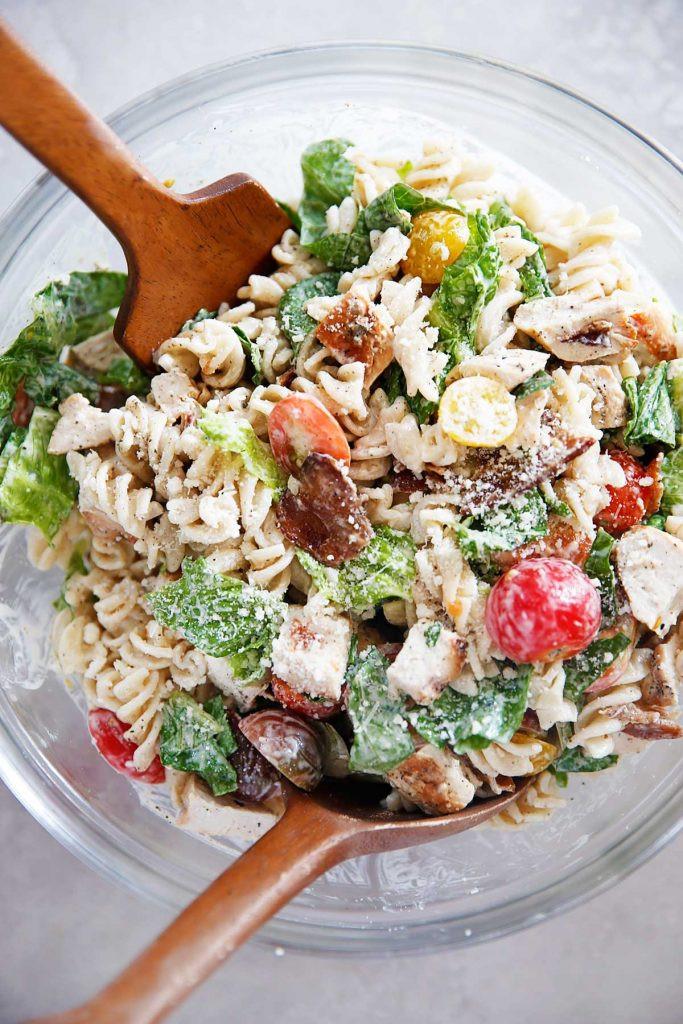 Caesar Pasta Salad  Gluten Free Chicken Caesar Pasta Salad Lexi s Clean Kitchen