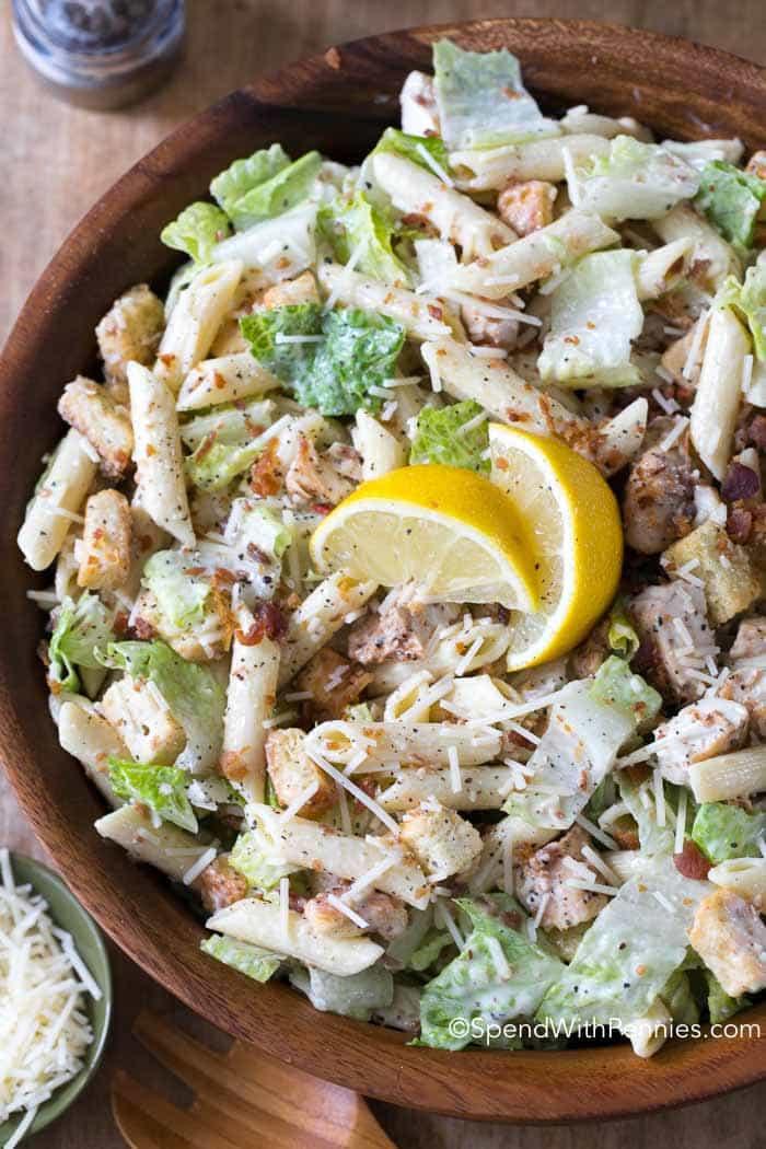 Caesar Pasta Salad  Caesar Pasta Salad Spend With Pennies