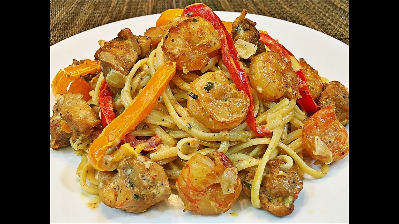 Cajun Chicken And Shrimp Pasta  tgi fridays cajun shrimp and chicken pasta