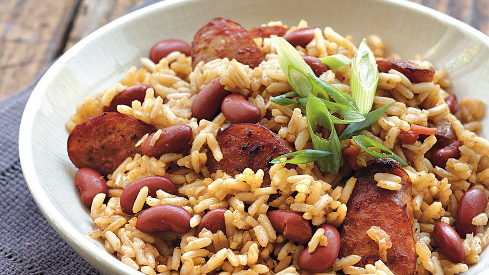 Cajun Red Beans And Rice  Cajun Red Beans and Rice recipe from Pillsbury