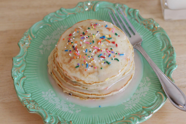 Cake Batter Pancakes  That Winsome Girl Cake Batter Pancakes
