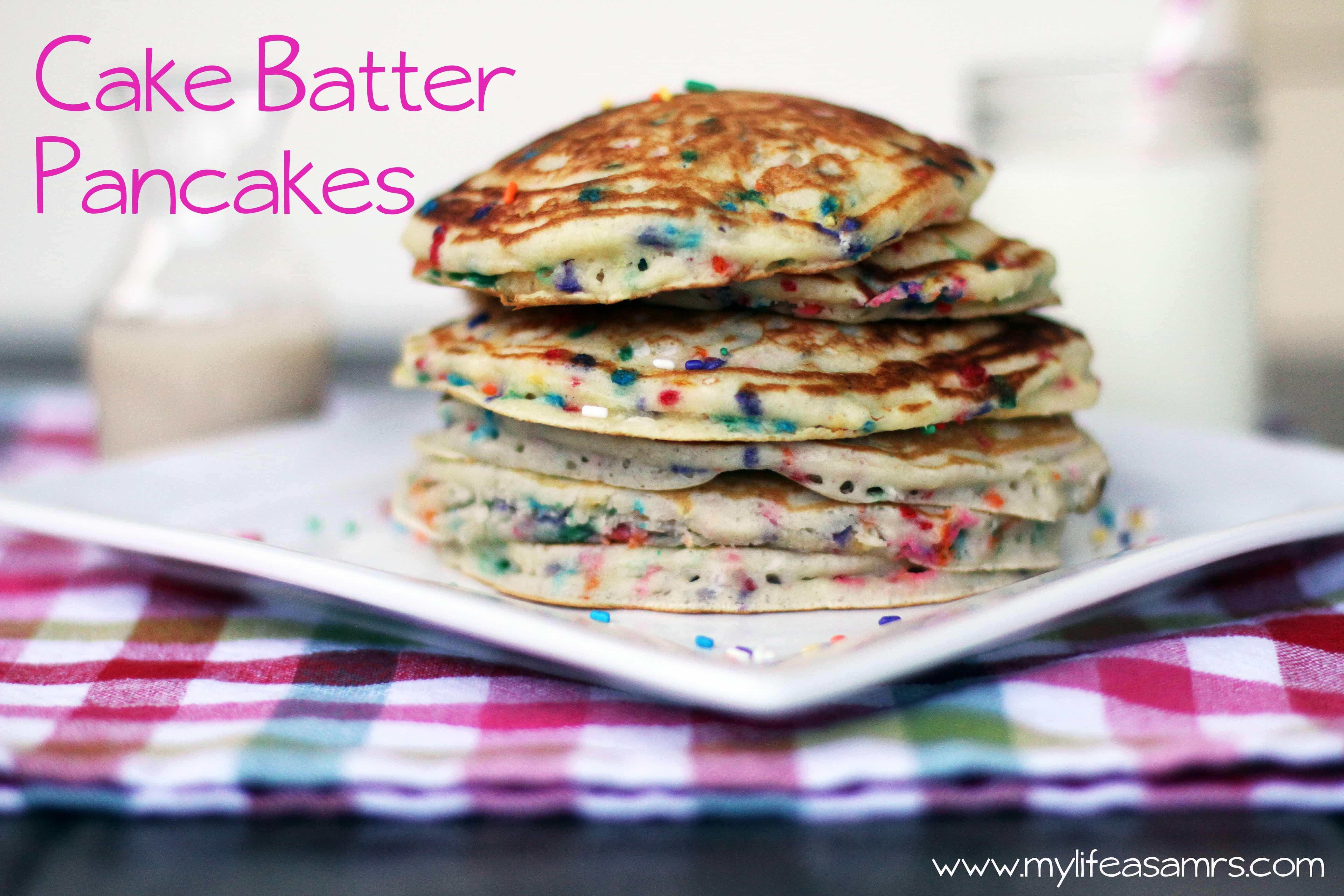 Cake Batter Pancakes  Cake Batter Pancakes Rachel Cooks